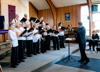 Comox United Church Choir with Paul Colthorpe.